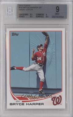 2013 Topps - [Base] #1.2 - Bryce Harper (Great Catch) [BGS 9]