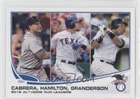 2012 AL Home Run Leaders (Miguel Cabrera, Josh Hamilton, Curtis Granderson)