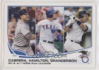 2012 AL Home Run Leaders (Miguel Cabrera, Josh Hamilton, Curtis Granderson) [EX…