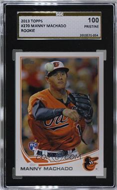2013 Topps - [Base] #270.1 - Manny Machado (Orange Uniform) [SGC10PRISTINE]