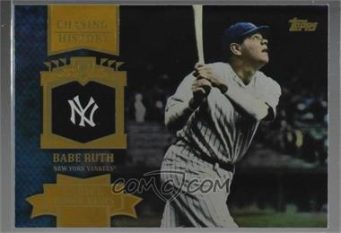 2013 Topps - Chasing History - Gold Holo-Foil #CH-11 - Babe Ruth - Courtesy of COMC.com