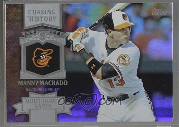 2013 Topps - Chasing History - Holo-Foil #CH-93 - Manny Machado