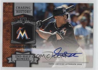 2013 Topps - Chasing History Autograph #CHA-GST - Giancarlo Stanton