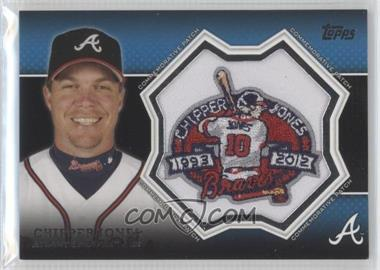 2013 Topps - Manufactured Commemorative Patch #CP-20 - Chipper Jones