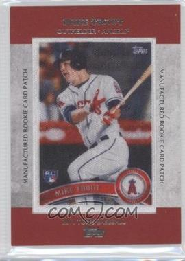 2013 Topps - Manufactured Rookie Card Patch #RCP-23 - Mike Trout