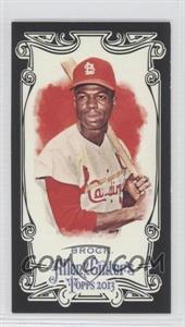 2013 Topps Allen & Ginter's - [Base] - Mini Black Border #254 - Lou Brock