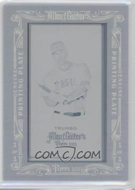 2013 Topps Allen & Ginter's - [Base] - Printing Plate Mini Cyan Framed #253 - Mark Trumbo /1