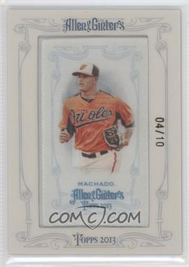 2013 Topps Allen & Ginter's - [Base] - Silk Mini Framed #MAMA - Manny Machado /10