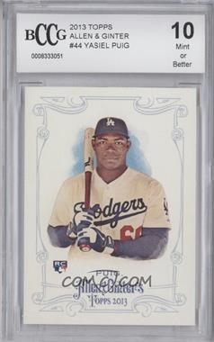 2013 Topps Allen & Ginter's - [Base] #44 - Yasiel Puig [BCCGMint]