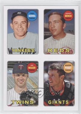 2013 Topps Archives - 1969 4-In-1 Stickers #69S-BBMP - Yogi Berra, Buster Posey, Johnny Bench, Joe Mauer