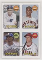 Ty Cobb, Willie Mays, Ken Griffey Jr., Mike Trout