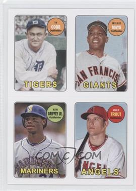 2013 Topps Archives - 1969 4-In-1 Stickers #69S-CMGT - Ty Cobb, Willie Mays, Ken Griffey Jr., Mike Trout