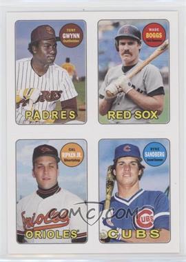 2013 Topps Archives - 1969 4-In-1 Stickers #69S-GBRS - Tony Gwynn, Wade Boggs, Cal Ripken Jr., Ryne Sandberg