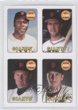 2013 Topps Archives - 1969 4-In-1 Stickers #69S-MCWP - Willie McCovey, Will Clark, Matt Williams, Buster Posey