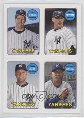 2013 Topps Archives - 1969 4-In-1 Stickers #69S-OPJR - Paul O'Neill, Andy Pettitte, Derek Jeter, Mariano Rivera