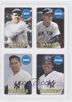 Babe Ruth, Lou Gehrig, Yogi Berra, Reggie Jackson