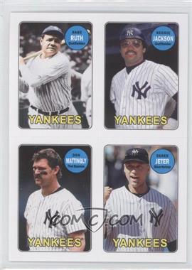 2013 Topps Archives - 1969 4-In-1 Stickers #69S-RJMJ - Babe Ruth, Reggie Jackson, Don Mattingly, Derek Jeter