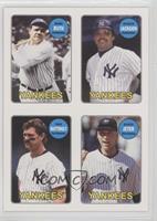 Babe Ruth, Reggie Jackson, Don Mattingly, Derek Jeter