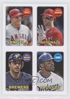 Mike Trout, Bryce Harper, Ryan Braun, Matt Kemp
