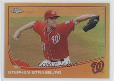2013 Topps Chrome - [Base] - Gold Refractor #50 - Stephen Strasburg /50