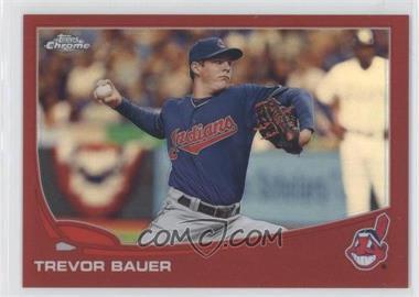2013 Topps Chrome - [Base] - Red Refractor #9 - Trevor Bauer /25