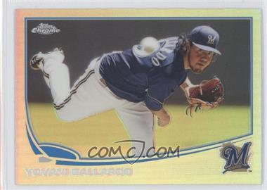 2013 Topps Chrome - [Base] - Refractor #13 - Yovani Gallardo