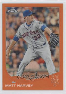 2013 Topps Chrome - [Base] - Retail Orange Refractor #117 - Matt Harvey
