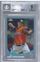 Jose Fernandez (Mariners Logo Incorrectly Pictured) [BGS9]