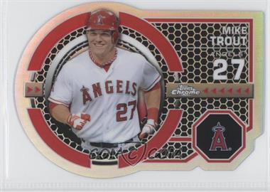 2013 Topps Chrome - Dynamic Die-Cuts #DY-MT - Mike Trout