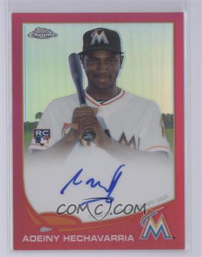 2013 Topps Chrome - Rookie Certified Autographs - Pink Refractor [Autographed] #116 - Adeiny Hechavarria /5 [Near Mint‑Mint+]
