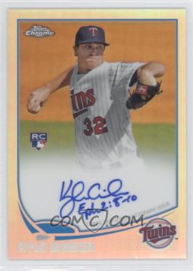 2013 Topps Chrome - Rookie Certified Autographs - Refractor [Autographed] #KG - Kyle Gibson /499