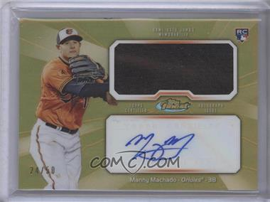 2013 Topps Finest - Autograph Jumbo Relic Rookie Refractor - Gold #AJR-MM - Manny Machado /50