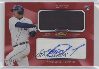 2013 Topps Finest - Autograph Jumbo Relic Rookie Refractor - Red #AJR-AG - Avisail Garcia /25