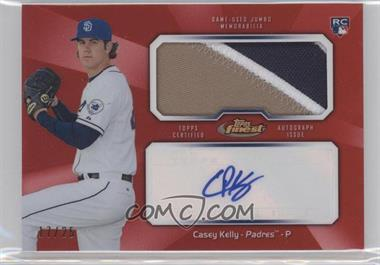 2013 Topps Finest - Autograph Jumbo Relic Rookie Refractor - Red #AJR-CK - Casey Kelly /25
