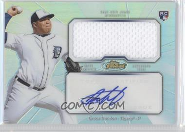 2013 Topps Finest - Autograph Jumbo Relic Rookie Refractor #AJR-BR - Bruce Rondon