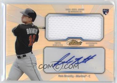 2013 Topps Finest - Autograph Jumbo Relic Rookie Refractor #AJR-RB - Rob Brantly