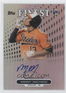 2013 Topps Finest - Autograph Rookie Refractor #RA-MM - Manny Machado