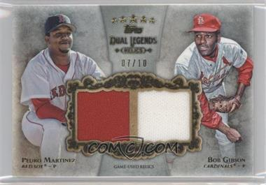 2013 Topps Five Star - Dual Legends Relics #FSDLR-MGI - Bob Gibson, Pedro Martinez /10