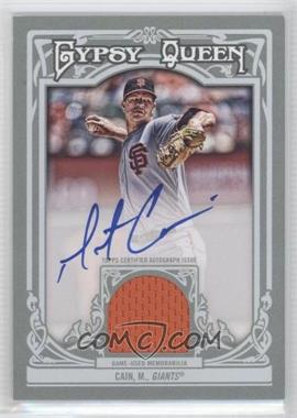 2013 Topps Gypsy Queen - Autographed Relics - [Autographed] #AR-MC - Matt Cain /25
