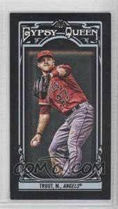 2013 Topps Gypsy Queen - [Base] - Mini Black #14 - Mike Trout /199