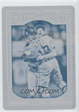 2013 Topps Gypsy Queen - [Base] - Printing Plate Cyan #259 - Justin Verlander /1