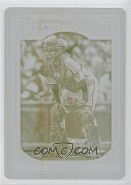 2013 Topps Gypsy Queen - [Base] - Printing Plate Yellow #110 - Buster Posey /1