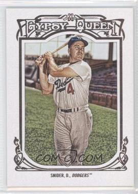 2013 Topps Gypsy Queen - [Base] - White Framed #180 - Duke Snider