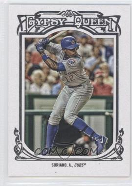 2013 Topps Gypsy Queen - [Base] - White Framed #335 - Alfonso Soriano