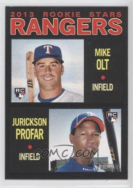 2013 Topps Heritage - [Base] - Retail Black #261 - Mike Olt, Jurickson Profar