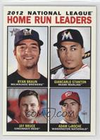 2012 National League Home Run Leaders (Ryan Braun, Giancarlo Stanton, Jay Bruce…