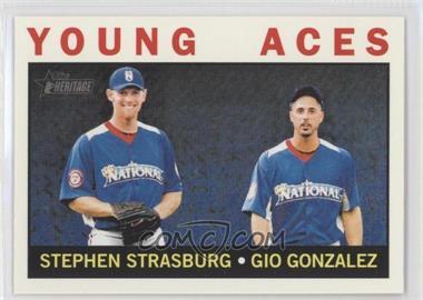 2013 Topps Heritage - [Base] #219 - Young Aces (Stephen Strasburg, Gio Gonzalez)