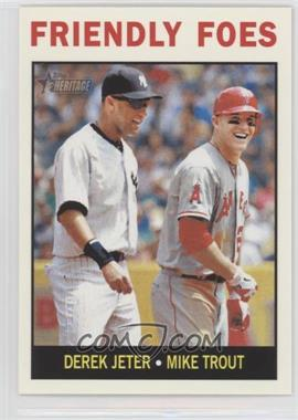 2013 Topps Heritage - [Base] #41 - Friendly Foes (Derek Jeter, Mike Trout)