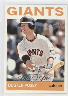 2013 Topps Heritage - [Base] #490.2 - Buster Posey (Action Photo)