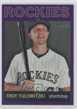2013 Topps Heritage - Chrome - Retail Purple Refractors #HC45 - Troy Tulowitzki
